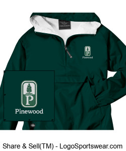 NEW! Classic Pinewood Youth Green Pullover Design Zoom
