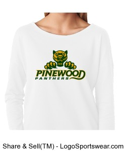 Authentic Panther Womens White Long-Sleeve Tee Design Zoom