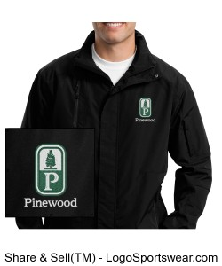 NEW! Classic Pinewood Mens Black All-Weather Jacket Design Zoom