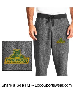 Authentic Panther Mens Graphite Sweatpants Design Zoom