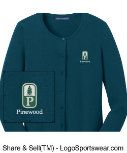 NEW! Classic Pinewood Womens Emerald Long-Sleeve Cardigan Design Zoom