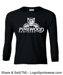NEW! Authentic Panther Blackout Long-Sleeve Cub Tee Design Zoom