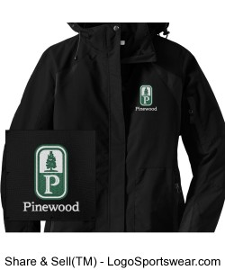 NEW! Classic Pinewood Womens Black All-Weather Jacket Design Zoom