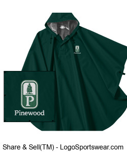 NEW! Classic Pinewood Adult Rain Poncho Design Zoom
