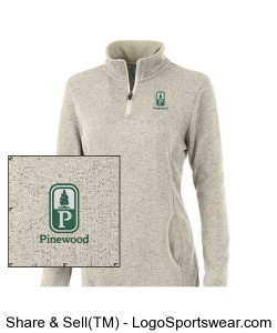 Classic Pinewood Womens Oatmeal Heather Fleece Pullover Design Zoom