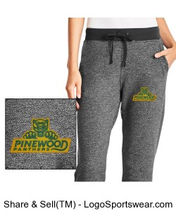 Authentic Panther Womens Graphite Sweatpants Design Zoom