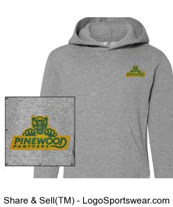 Authentic Panther Gray Hoodie Design Zoom