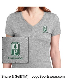 Classic Pinewood Womens Gray Short-Sleeve Tee Design Zoom