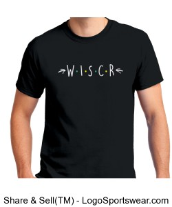 WISCR Unisex Black Short-Sleeve Tee Design Zoom