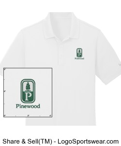 Classic Pinewood Mens White Nike Polo Design Zoom