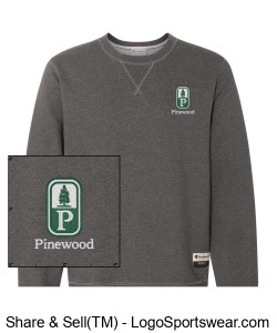 NEW! Classic Pinewood Adult Heather Gray Crew-Neck Sweatshirt Design Zoom